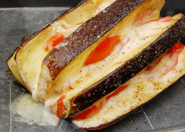 Slice the eggplant as thin as you desire