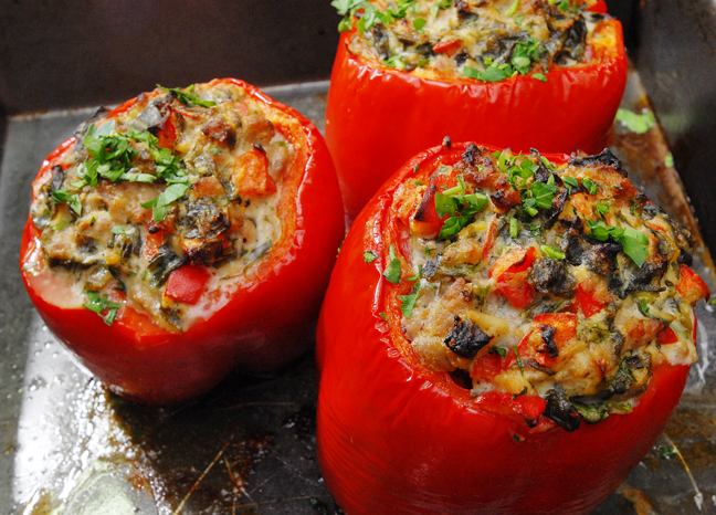 Stuffed Peppers with Ricotta and Italian Sausage | Rufus' Food and ...