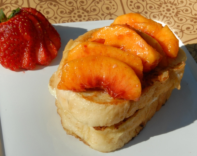The fruit hides how unhealthy the toast is