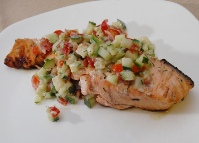 Don't overcook the salmon