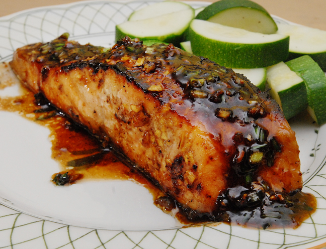 Salmon with a Maple Glaze | Rufus' Food and Spirits Guide