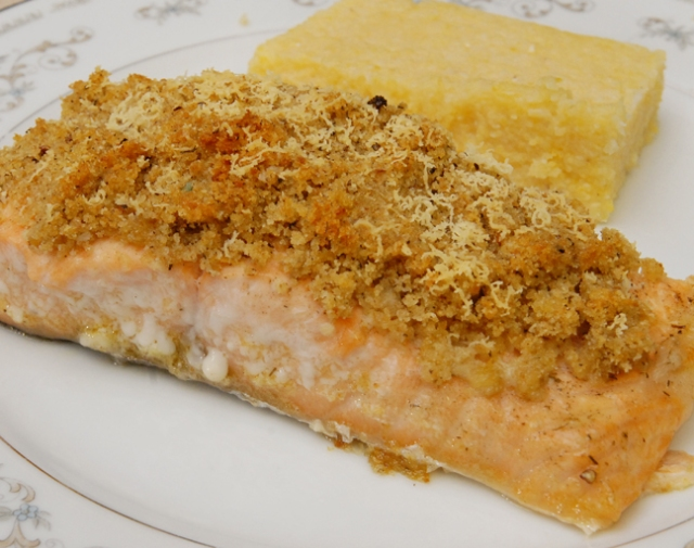 Baked Salmon with a Crumb Crust | Rufus' Food and Spirits Guide