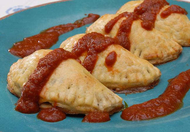 Black Bean and Sweet Potato Empanadas with Red Chili Sauce | Rufus ...