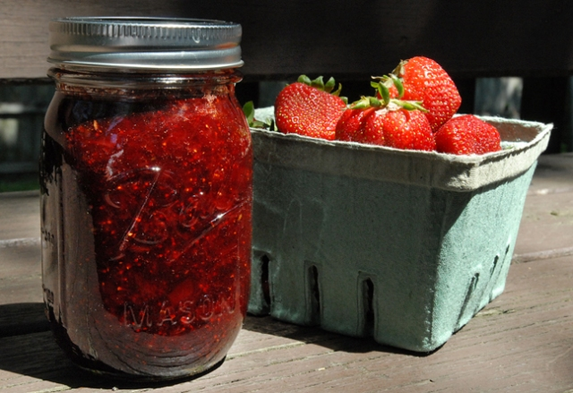 It's about that many berries for one container of jam