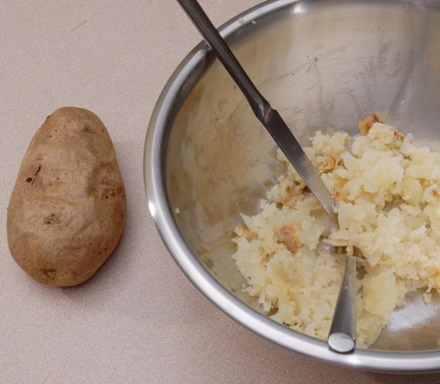 Really over bake the potatoes
