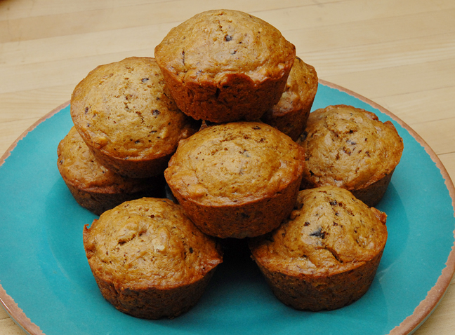 banana muffins with chocolate and pecans rufus food and spirits guide