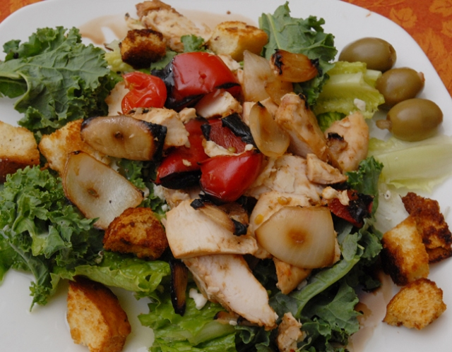 Grilled chicken vegetables and make any salad a meal