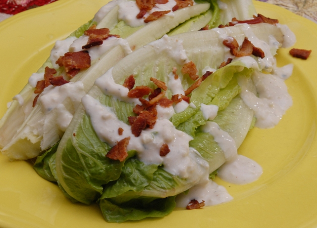 Romain lettuce makes this healthy right