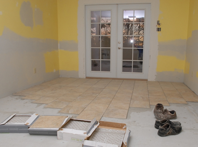 Over the hump and laying tile