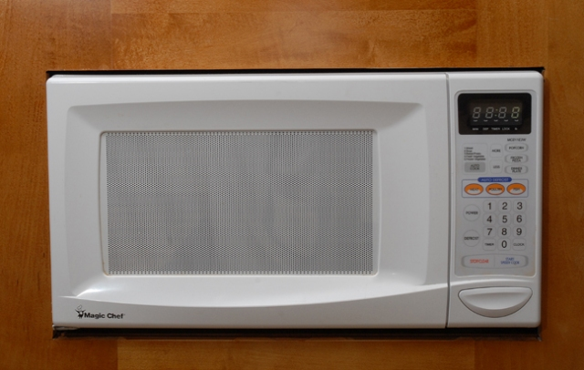 The only non stainless steel appliance
