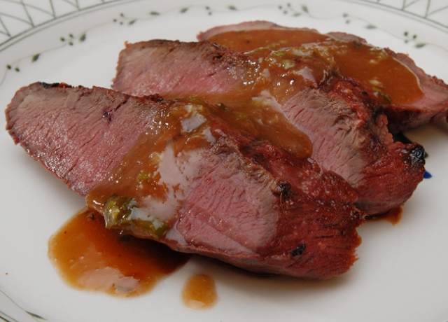 Venison with Grapefruit Sauce