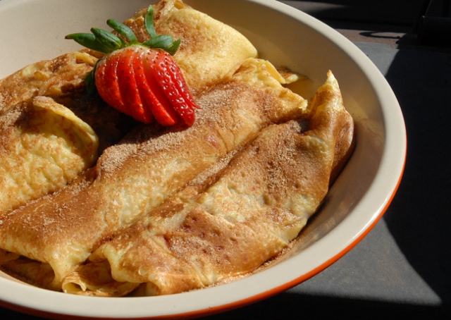 Strawberry Filled Crepes