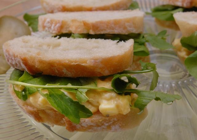 What a dainty little finger sandwich