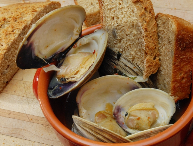 Fresh clams are wicked awesome
