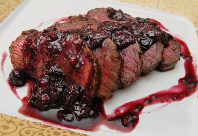 Venison with a Blueberry Sauce