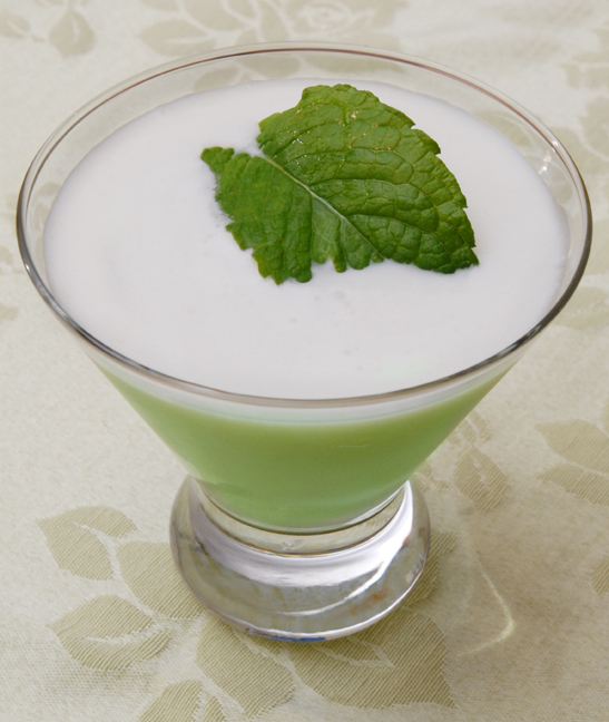 Creme de menthe is the new grand marnier