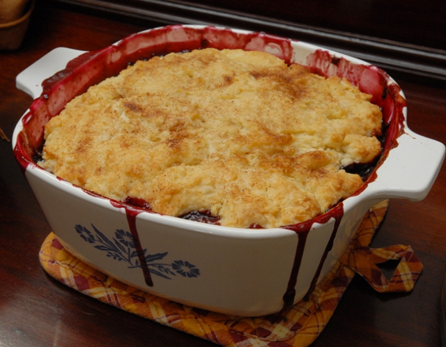 It is not cobbler unless some runs over the side