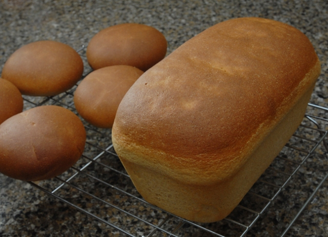 Or make a loaf of bread and some hamburger buns