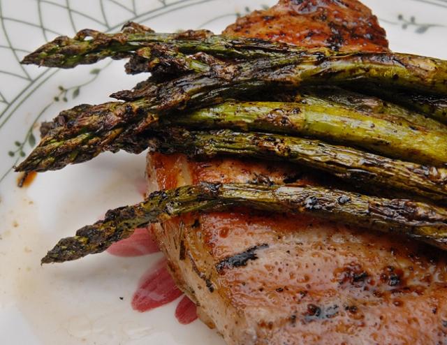 The pork chop underneath is pretty good too
